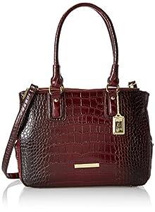 Anne Klein Hear Me Roar 60339122 Top Handle Satchel,Bordeaux,One Size