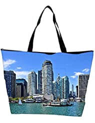 Snoogg Abstract Buildings Designer Waterproof Bag Made Of High Strength Nylon - B01I1KN340