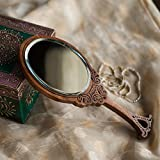 "ExclusiveLane Wooden Engraved Handheld Mirror From ""Royal Queen Collection ""- For Gift / Home Décor"