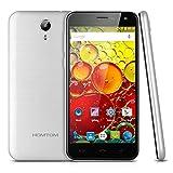 "Homtom HT3 - Smartphone Móvil Libre 3G Android 5.1 (5.0"" HD Pantalla, 1.3GHz, Dual Sim, Quad Core, 8Gb Rom, 1Gb Ram, Acceso Rápido a APPs, Multi-Idioma), Plateado"