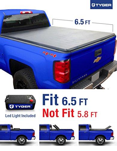 Tyger Auto TG-BC3C1007 Tri-Fold Tonneau Truck Bed Cover (For 2014-2016 Silverado/Sierra 1500 & 2015 Silverado/Sierra 2500 HD/3500 HD 6.5′ (78″))