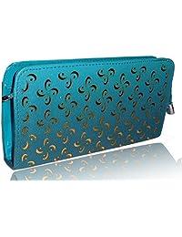 Sn Louis Canvas Blue Women Wallet SAMCO-729