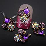 10pcs Amethyst Square Clear Stone For Nails Decoration Nail Strass 3d Nail Jewelry DIY Nails Art YNS24Z (AMETHYST)