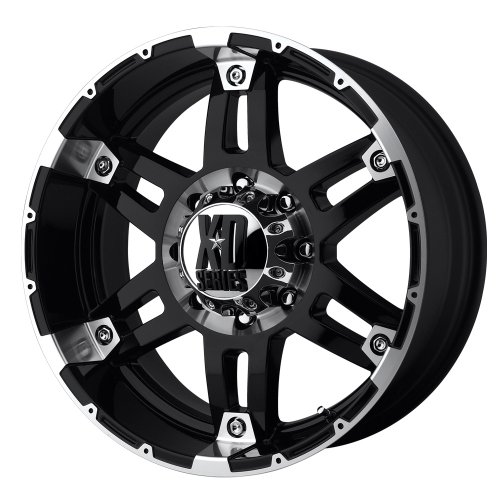 XD Series by KMC Wheels XD797 Spy Gloss Black Wheel With Machined Face (18×8.5″/6×139.7mm, +18mm offset)