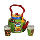 A Krazy Mug Truck Theme Kettle With Set Of Two Glasses