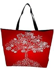 Snoogg Snow Tree Waterproof Bag Made Of High Strength Nylon