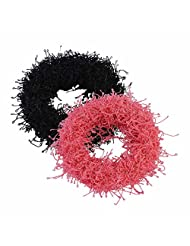 Sarah Black And Pink Rubber Band Set For Women
