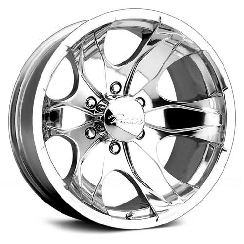 Pacer Warrior 17×8 Polished Wheel / Rim 5×5.5 with a 10mm Offset and a 108.00 Hub Bore. Partnumber 187P-7885