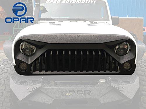 Opar New Front Matte Black Grille Insert for 2007-2017 Jeep Wrangler Rubicon Sahara Sport Jk