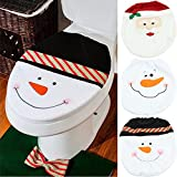 Generic White : Hot Santa Claus Toilet Cover Seat Rug Bathroom Set Christmas Decoration Gifts Free Shipping B0157