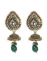 Indosheen Gold Emerald Drop Earrings Fashion Earring For Women