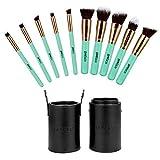 Mypreface Kabuki Makeup Brushes Set With Free Travel Brush Holder,Include Foundation,Mineral Powder,Bronzer,Concealer...