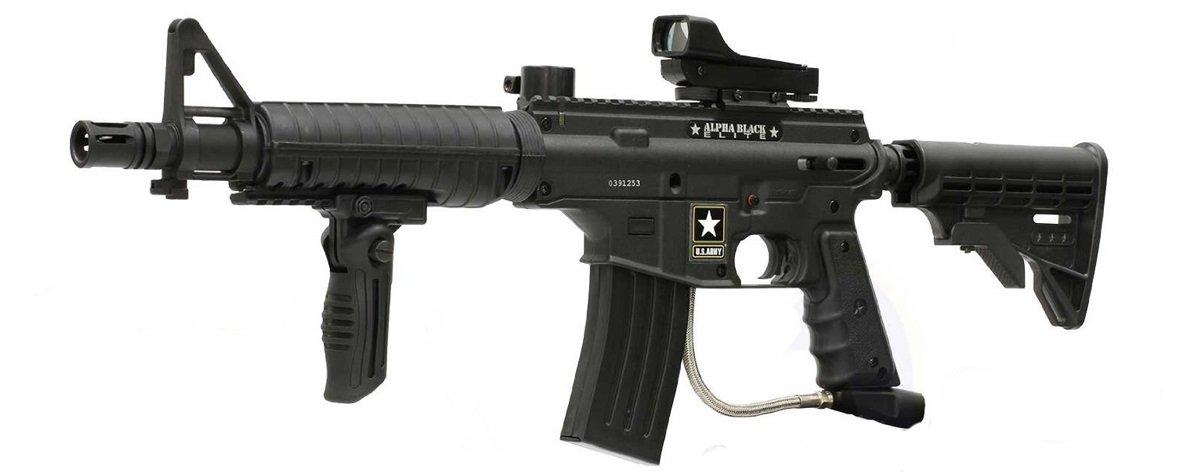 Tippmann US Army Alpha Black Elite Paintball Gun