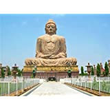 "Dolls Of India ""Buddha Statue In Bodhgaya - Bihar, India"" Reprint On Paper - Unframed (40.64 X 30.48 Centimeters..."