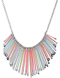 Rizir Fashion Silver Beads And Metal Alloy Choker Necklace For Women