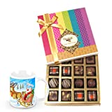 Crunchy Delights Truffles And Chocolates With Christmas Mug - Chocholik Belgium Chocolates