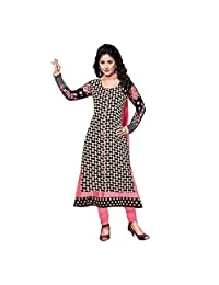 Black-White And Pink Georgette Designer Semi Stitched Suit