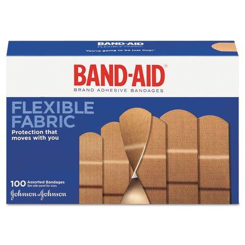 Band-aid Flex Fabric Bandages, Assorted - 100 Ea, 3 Pack