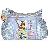 Large Disney Winnie The Pooh Baby Blue Gingham Diaper Bag