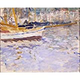 Tallenge Old Masters Collection - The Port Of Nice By Berthe Morisot - A3 Size Premium Quality Rolled Poster