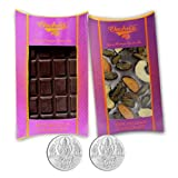 Chocholik Belgium Chocolate Gifts - Bittersweet Combo Of Chocolate Bars With 5gm X 2 Pure Silver Coins - Diwali...