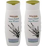 Patanjali Kesh Kanti Milk Protein Hair Cleanser Shampoo, 200ml (Pack Of 2)