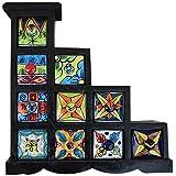 10 Drawer Handmade Chest Of Drawer Frame Multicolor Wooden Spice Box Masala Jar Rack Handmade Painting Pattern...