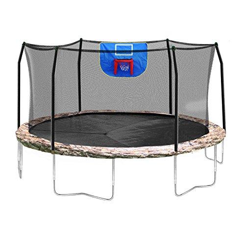 Skywalker Trampolines Jump N' Dunk Trampoline with Safety Enclosure and Basketball Hoop,...