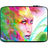 Snoogg Colorful Hair Woman 2769 12 To 12.6 Inch Laptop Netbook Notebook Slipcase Sleeve