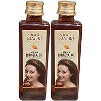 Khadi Mauri Maha Bhringraj Hair Oil Pack Of 2 Anti Hairfall Herbal Ayurvedic 100 Ml Each