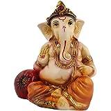 GANESHA Resin Statue Idol Showpiece Murti For Car Or Home LxHxW(cm) = 6.5x9.5x5.5
