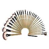 32 Piece Brush Set | Professional Kabuki Makeup Brush Set Cosmetics Foundation Makeup Brushes Set Kits + Pu Leather...