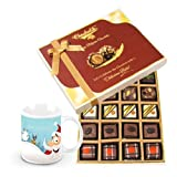 Exclusive Treat Of Chocolates With Christmas Mug - Chocholik Belgium Chocolates