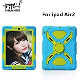 KaLaiXing® Spider-man Military Heavy Duty Case Shock Absorbing Protective Back Cases For IPad 6/air2 – Blue Green