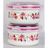 STORAGE BOWLS & CONTAINERS | SET OF 2 PIECES | More Convenient | Cute & Stylish Kitchen Accessory | Make Your...