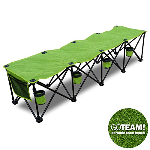 GoTeam 4 Seat Portable Folding Team Bench - Green
