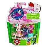 Littlest Pet Shop Sweetest 2 Pack Cow # 3126 & Ladybug # 3127