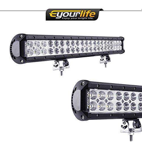 Eyourlife 20 inch Light Bar 12v Light Bar Truck Light Bar Off Road Bar Light Led 126W 4wd SUV UTE ATV UTV