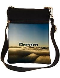 Snoogg Dream Clouds Cross Body Tote Bag / Shoulder Sling Carry Bag