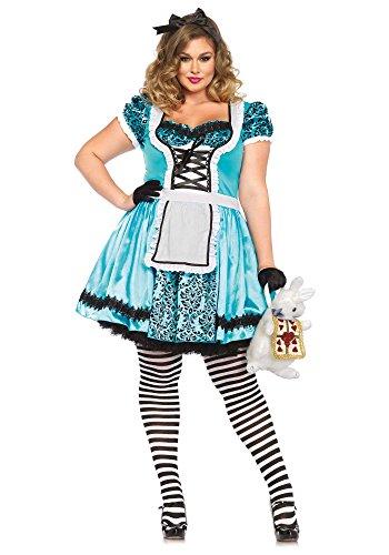 Halloween 2017 Disney Costumes Plus Size & Standard Women's Costume Characters - Women's Costume CharactersLeg Avenue Women's Plus-Size Looking Glass Alice Costume, Blue/Black
