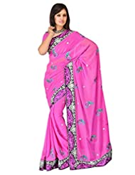 Sehgall Saree Indian Bollywood Designer Ethnic Professional Georgette Embroidery Fancy Saree Sari - B00OFOA0K2