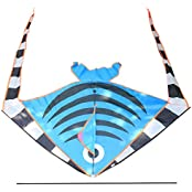 Kite Large Easy Flyer Long Tailed Swallow Fish Kite , (47.24 X 74.80 )""