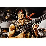Rambo Sylvester Stallone Hollywood Actor S-P674 - Poster For Home/Office Décor