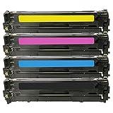 4 Inktoneram Replacement Toner Cartridges For 128A Toner Cartridges CE320A CE321A CE323A CE322A Combo Pack LaserJet...