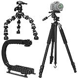 "Shop Smart Deals Professional Heavy Duty Photo Video Support: Includes 80"" Heavy Duty Tripod, Scorpion Vertical... - B01ESAUEVC"