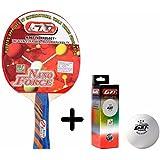 GKI Nano Force Table Tennis Combo Set (GKI Nano Force Table Tennis Racquet + GKI Premium 3 Star 40 Table Tennis...