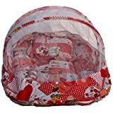 Amardeep And Co Baby Mattress With Mosquito Net Collage (Red) - Nt-02 Red By Nagar International