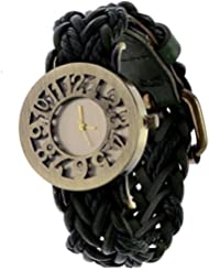 Felizer Metal Dial Analog Watch With Attractive Leather Strap For Women - Black