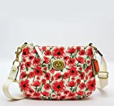 NEW AUTHENTIC COACH POPPY FLORAL PRINT CROSSBODY SWINGPACK