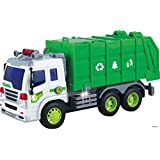 Memtes Friction Powered Garbage Truck Toy With Lights And Sound For Kids